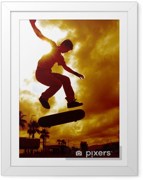 Plakat w ramie Hiszpański skater - Skateboarding