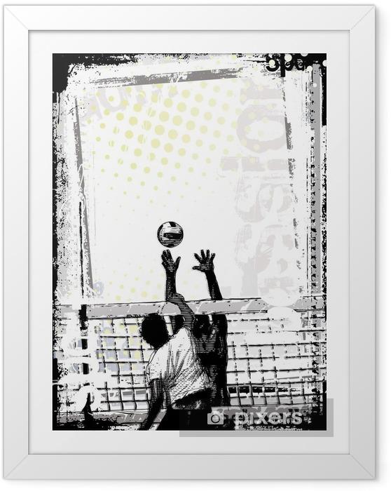 Plakat w ramie Brudna plaża siatkówka 2 plakat - Siatkówka