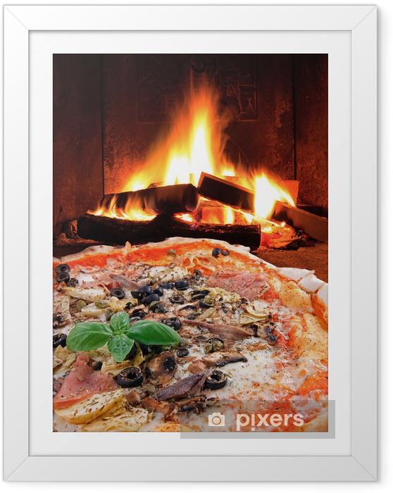 Poster en cadre Pizza Capricciosa ... Tradizione Italiana - Thèmes