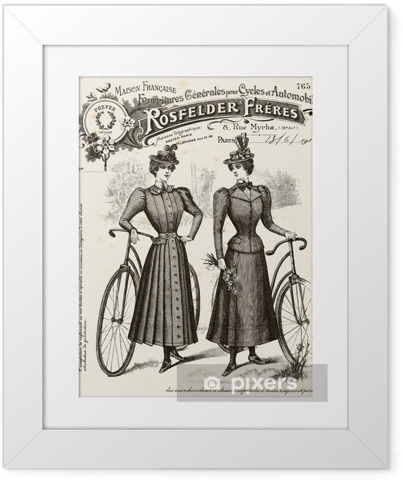 Poster en cadre Maillot de cyclisme - Sur la route