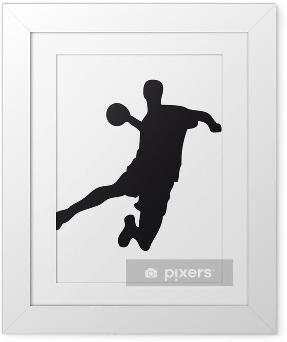 Plakat w ramie Handballer - Sporty indywidualne