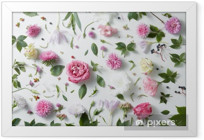 Poster en cadre Fond élégant de roses roses - Plantes et fleurs
