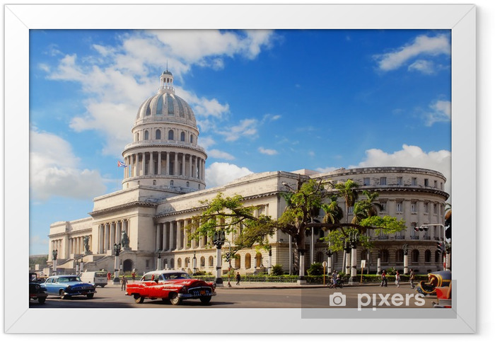 Poster i Ram Capitolio byggnad i Kuba - Teman