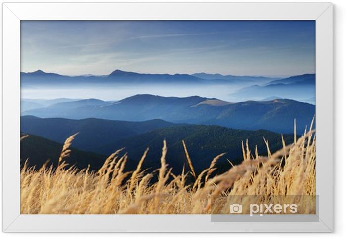 Ingelijste Poster Herfst in de bergen - Bestemmingen