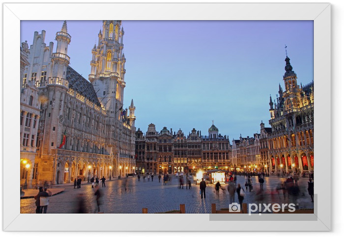 Ingelijste Poster Grand Place, Grote Markt, Brussels, Belgium, Europe - Europa