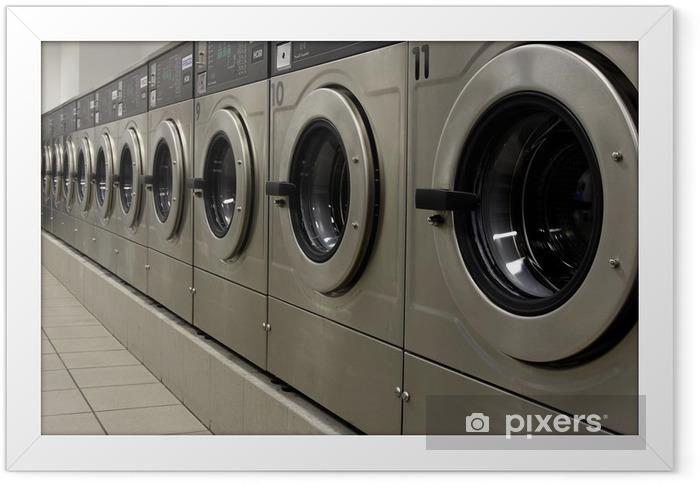 Poster en cadre Machines à laver - Maisons et jardins