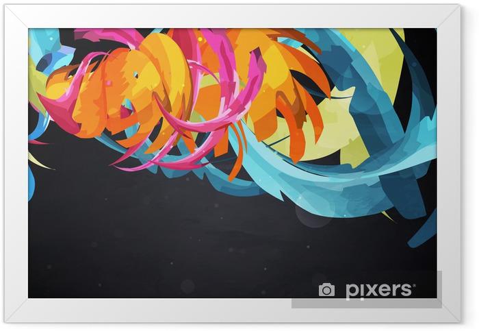 Poster en cadre Résumé vecteur graphique, fond lumineux de graffitis - Abstrait
