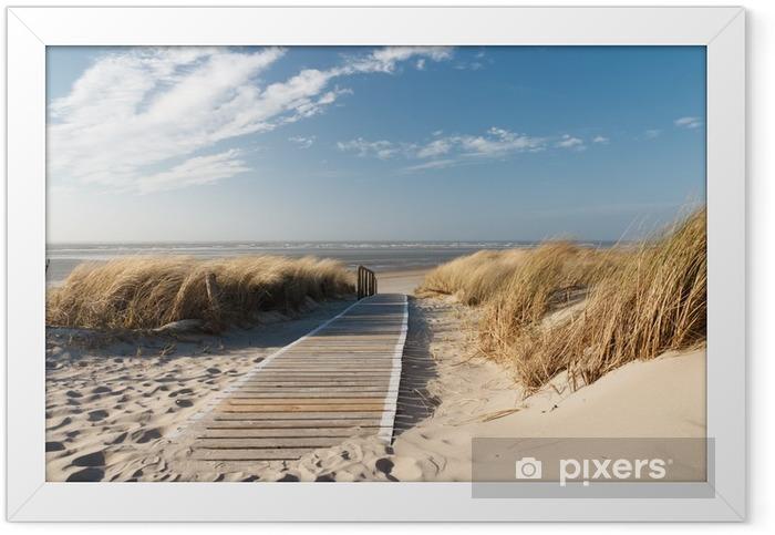 Plakat w ramie Plaża Morza Północnego - Morze i ocean