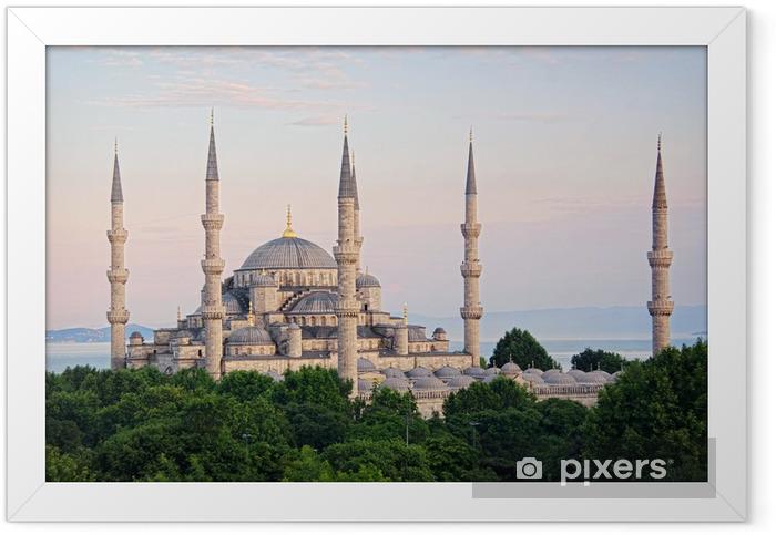Póster Enmarcado Sultanahmet Camii más famosa como la Mezquita Azul - Oriente Medio