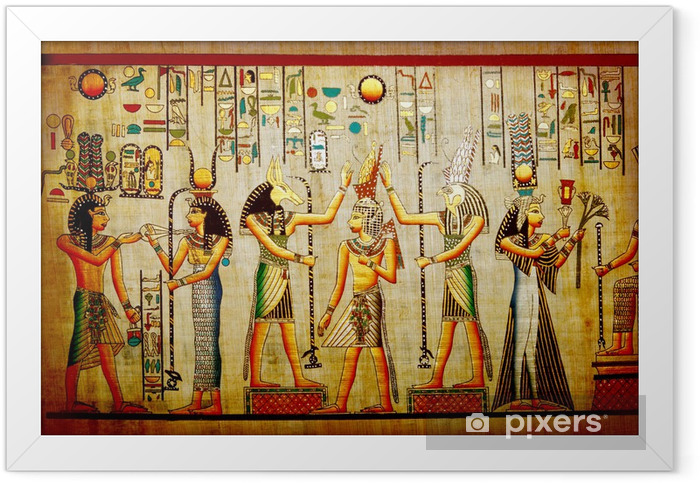 Plakat w ramie Papirus starych papieru naturalne z Egiptu - iStaging