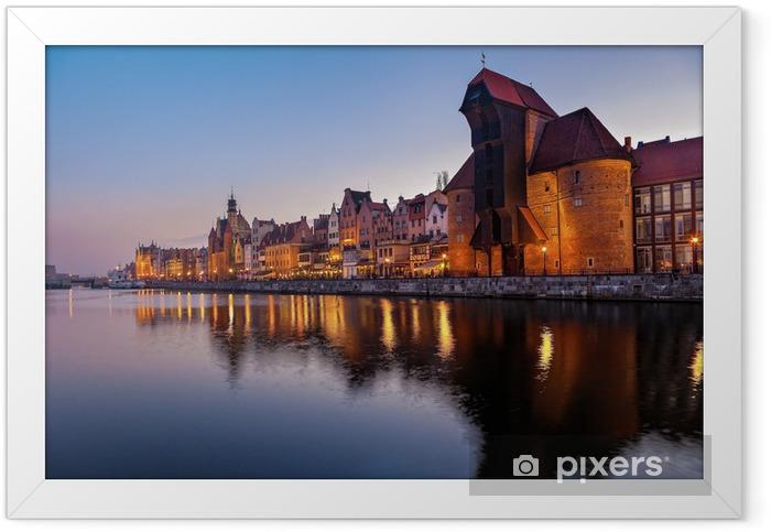 Poster en cadre La vieille ville de Gdansk, en Pologne. - Thèmes