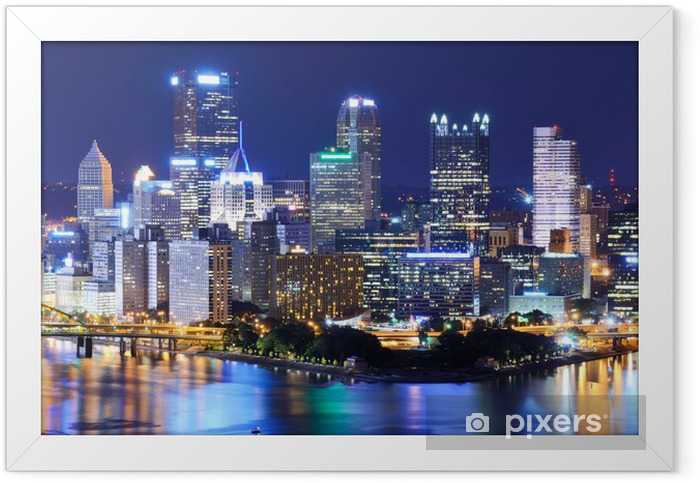Plakat w ramie Pittsburgh Downtown Skyline - Tematy