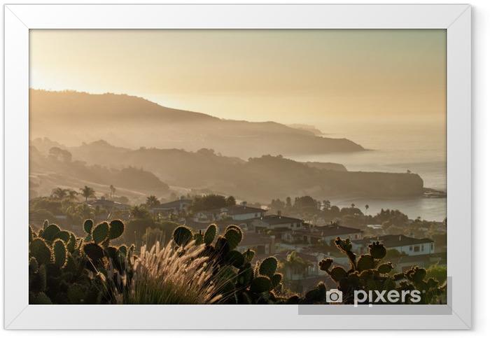 Poster i Ram Kalifornien kusten söder om Palos Verdes, Los Angeles - Amerikanska städer