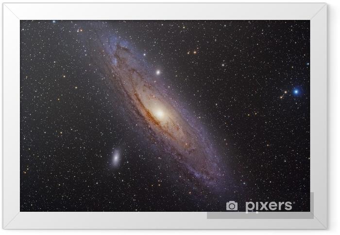 Andromeda Galaxy Indrammet plakat -