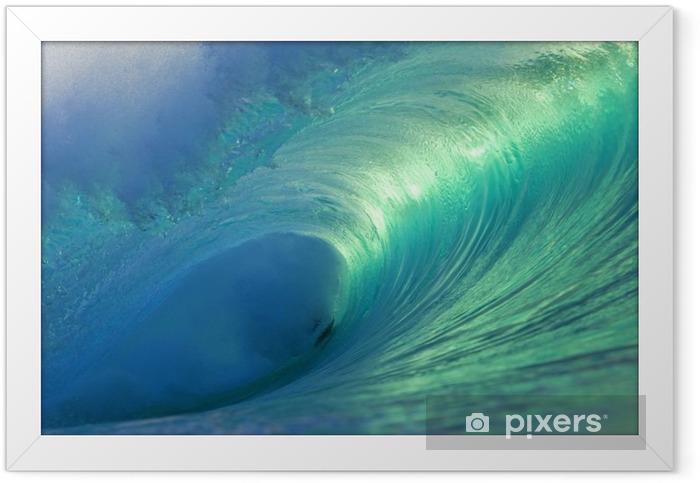 Ingelijste Poster Hawaii Pipeline Lege Golf 4 - Zee en oceaan