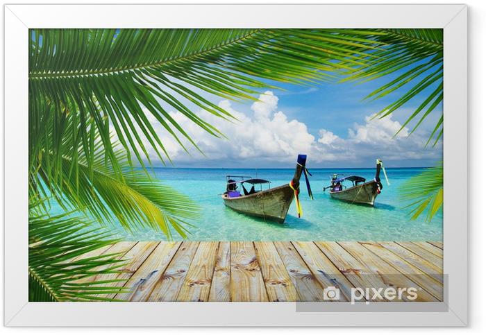 Poster in Cornice Mare tropicale - Temi