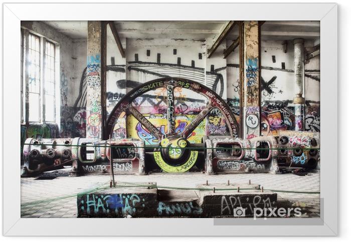 Ingelijste Poster Verlaten fabriek - Europese steden