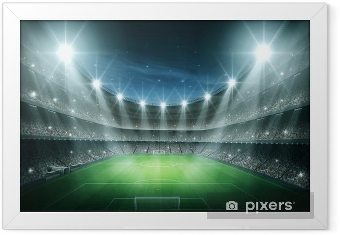 Plakat w ramie Światło Stadium - Football amerykański