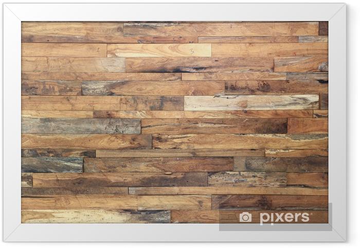 Plakat w ramie Drewno tekstury tła - Tematy