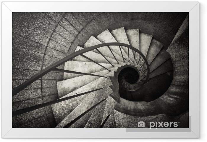 Çerçeveli Poster Spiral merdiven.. - Binalar ve mimari