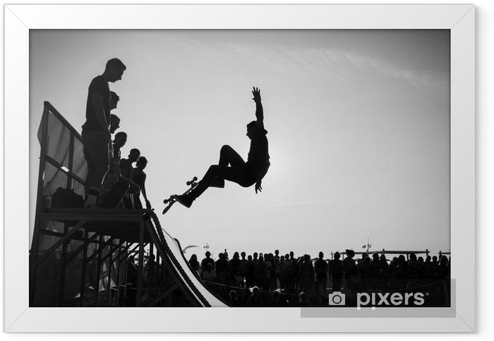 Póster com Moldura Jump - Skate