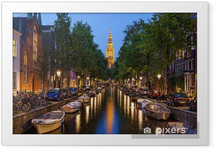 Amsterdam kanaler Indrammet plakat -