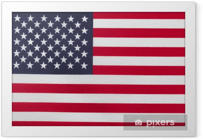 Poster i Ram Flagga USA - Tecken och symboler