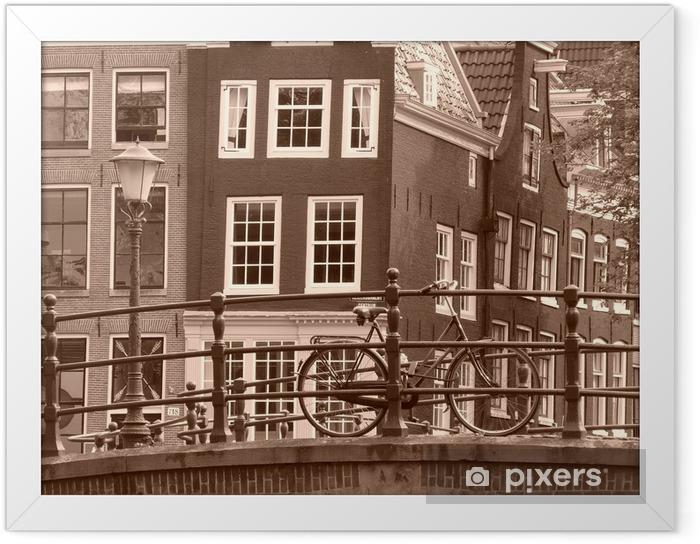 Amsterdam Indrammet plakat - Europæiske Byer