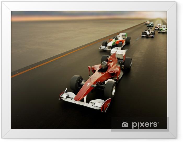 Ingelijste Poster F1 Cars -
