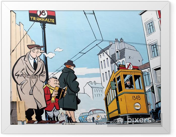 Plakat w ramie Malarstwo ścienne w Brukseli - Style