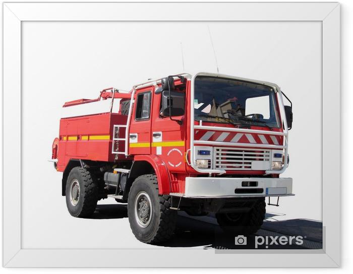 """Plakat w ramie """"""""""""Cysterna pożarów strażacy"""" - Życie"""