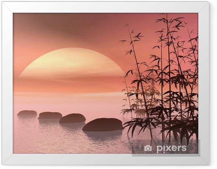 Plakat w ramie Azjatycka kroki do słońca - renderowania 3D - Style
