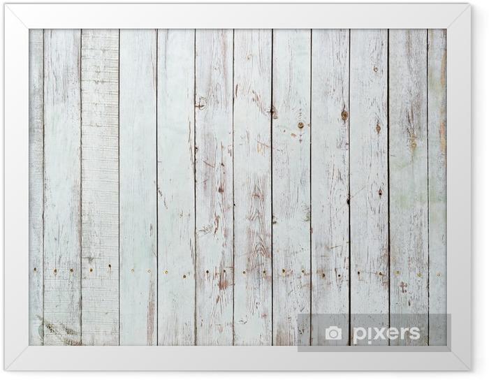 Plakat w ramie Czarne i białe tło z drewnianych desek -