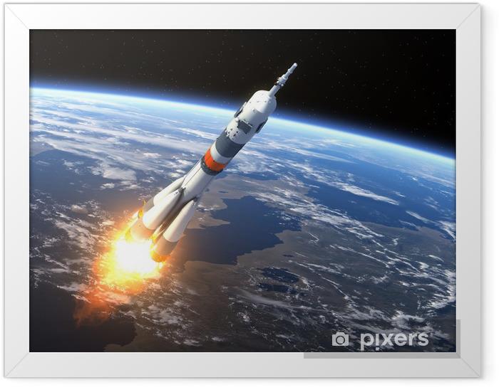 """Plakat w ramie Rakieta nośna """"Sojuz-FG"""" Uruchomienie - Przeznaczenia"""