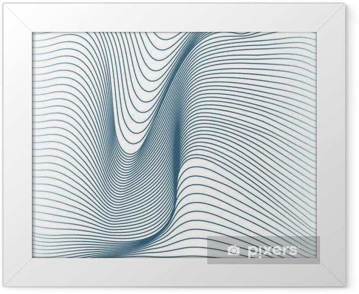 Plakat w ramie Abstrakcyjne linie faliste bez szwu - Zasoby graficzne