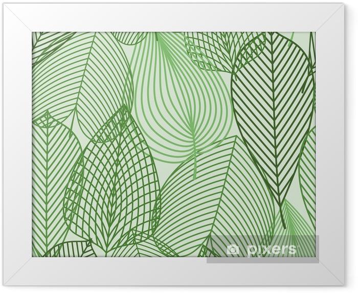 Çerçeveli Poster Bahar yeşil kesintisiz desen bırakır -