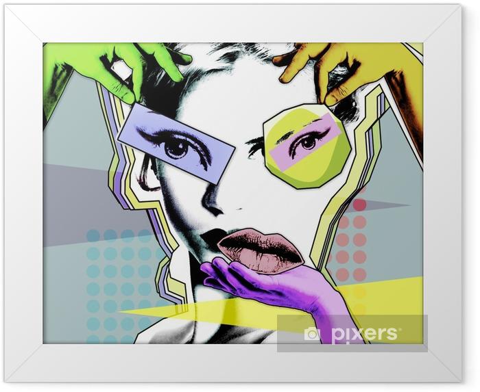 Poster in Cornice Bellezza femminile e chirurgia plastica. poster retrò in stile pop art .. - Stili di vita