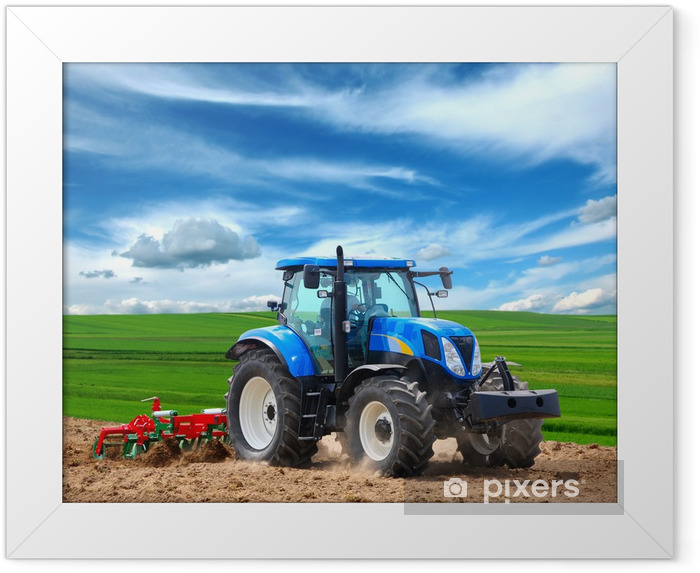 tractor Framed Poster - Themes