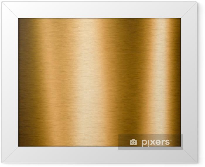 Plakat w ramie Metaliczne złoto szczotkowana płyta przydatne dla środowisk - Surowce