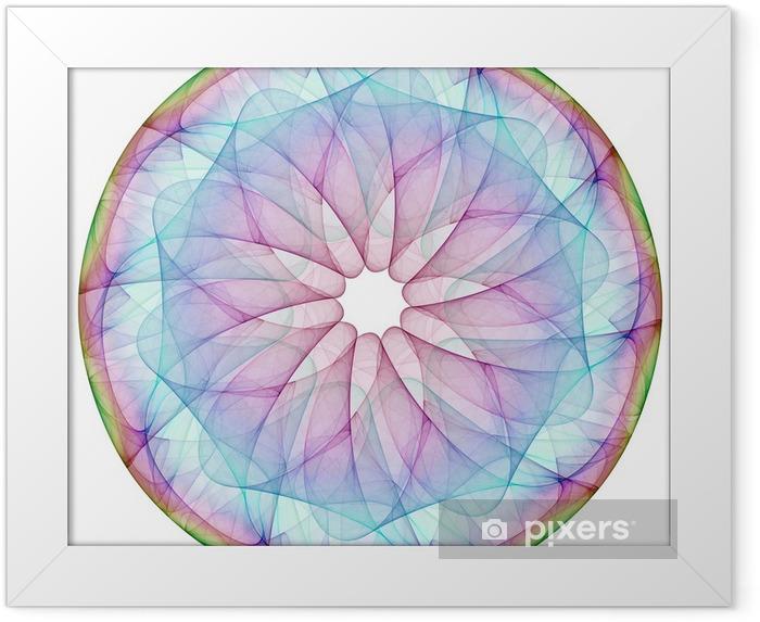 Plakat w ramie Kolorowa Mandala - Naklejki na ścianę