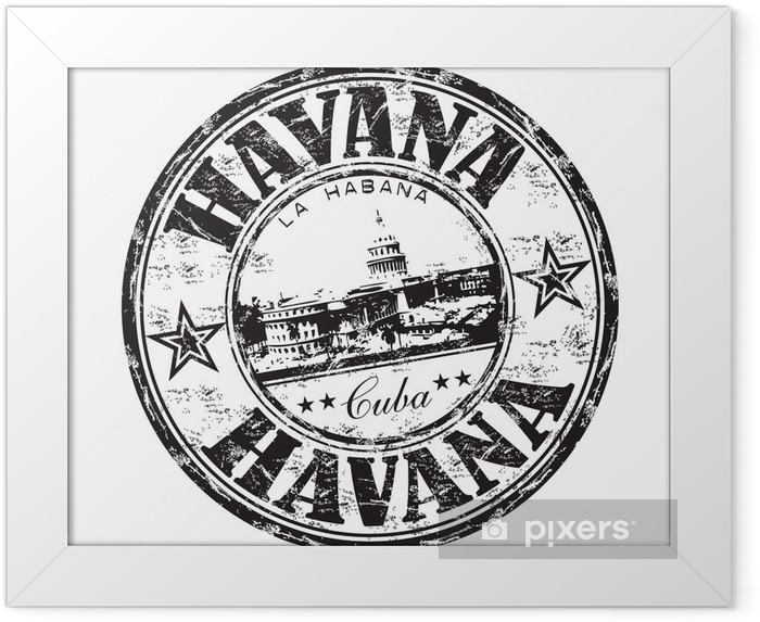 Poster i Ram Havanna grunge, gummi, stämpel - Amerika