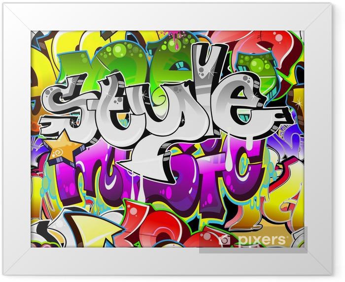 Plakat w ramie Graffiti Urban Art tle. powtarzalne projekt - Tematy