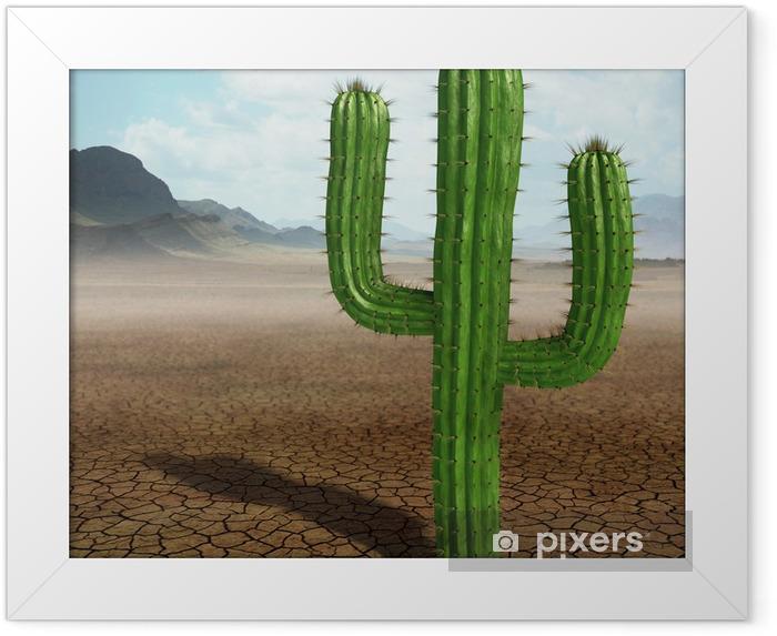 Poster i Ram Kaktus i öknen - Vildmark