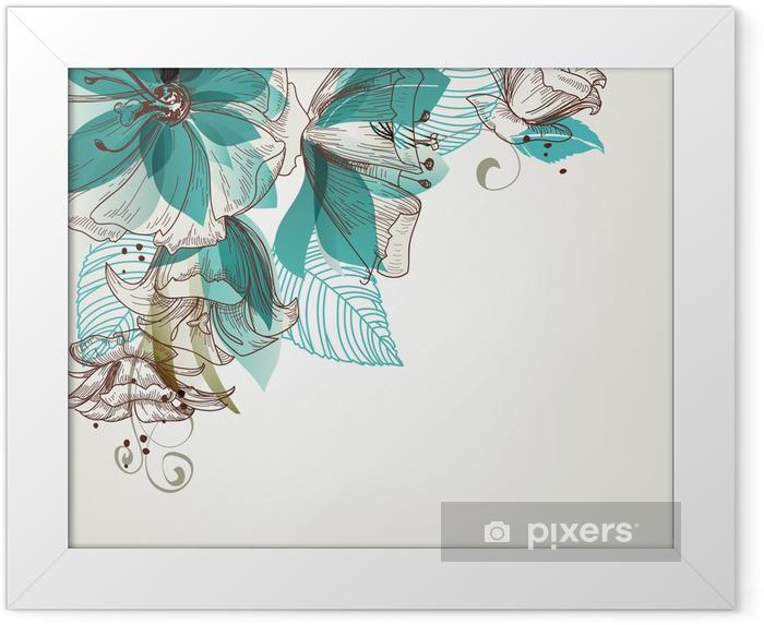 Ingelijste Poster Retro bloemen vector illustratie - Stijlen