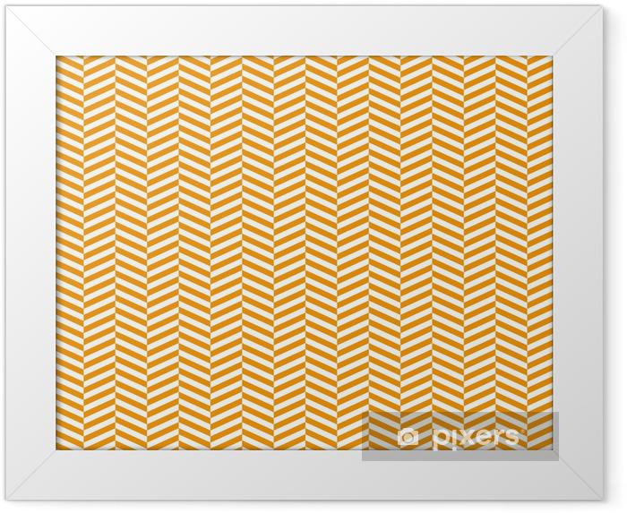 Ingelijste Poster Chevron patroon achtergrond - Kunst en Creatie