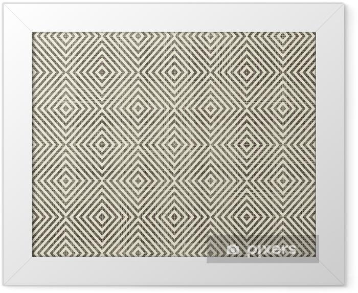 Rámovaný obraz Abstraktní geometrické retro seamless background - Pozadí