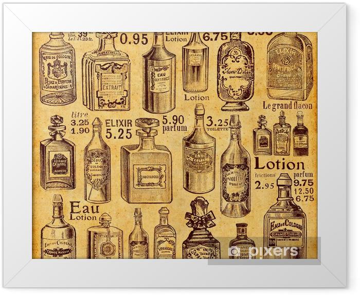 Ingelijste Poster Flessen en parfum - Stijlen