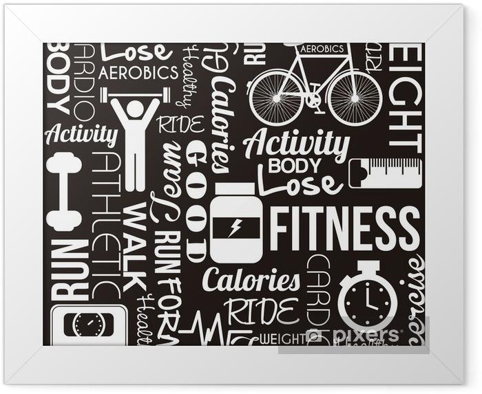Ingelijste Poster Fitness vector -