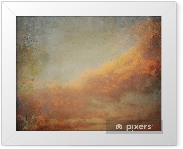 Ingelijste Poster Vintage achtergrond met wolken in de lucht - Stijlen