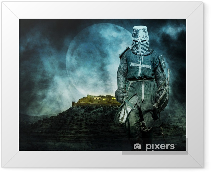 Poster i Ram Medeltida crusader - Riddare